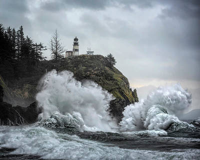 Photograph - Cape Disappointment Chaos by Wes and Dotty Weber