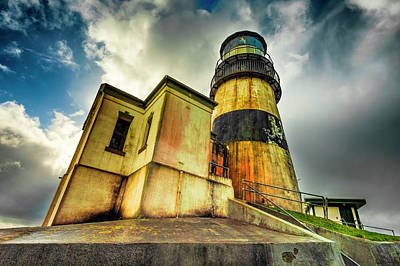 Photograph - Cape Disappointment Lighthouse Under Dramatic Skies by Dee Browning