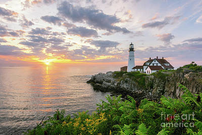 Photograph - Cape Elizabeth First Light by Michael Ver Sprill