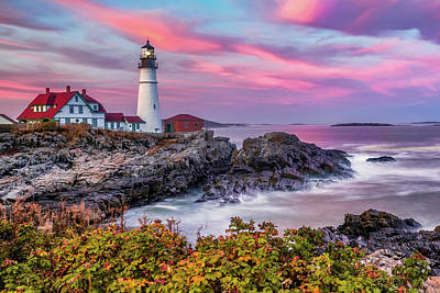 Royalty-Free and Rights-Managed Images - Cape Elizabeth Lighthouse - Portland Head Light in Maine by Gregory Ballos