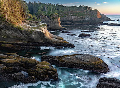 Art Print featuring the photograph Cape Flattery by Ed Clark