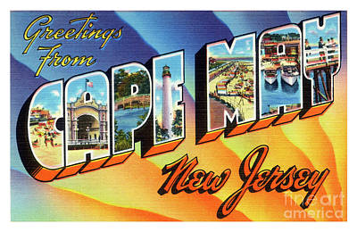 Photograph - Cape May Greetings - Version 1 by Mark Miller