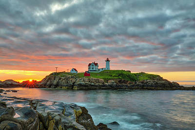 Photograph - Cape Neddick Light And Boom Island Light  by Juergen Roth