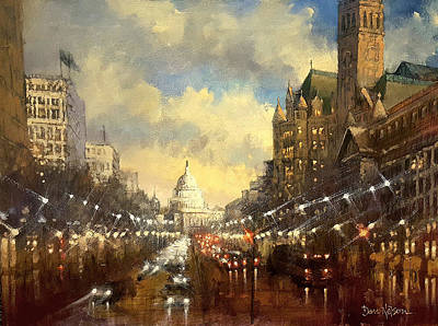 Painting - Capitol Evening by Dan Nelson