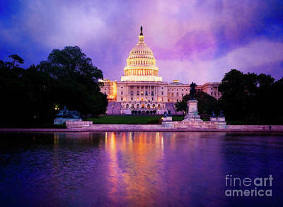 Photograph - Capitol Lights by Scott Kemper