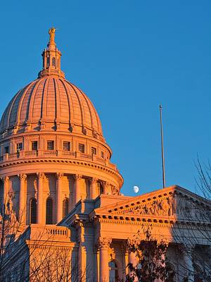 Photograph - Capitol - Madison - Wisconsin- Sunset 2 by Steven Ralser