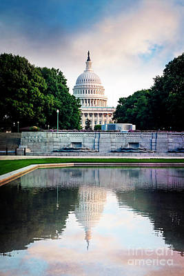 Photograph - Capitol Reflection by Scott Kemper