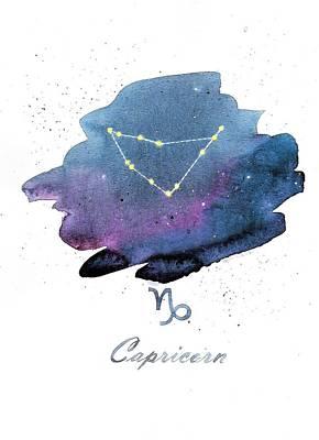Painting - Caprocorn Constellation by Ezartesa Art