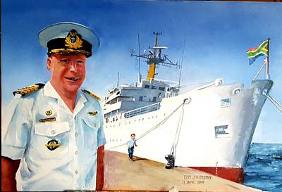 Painting - Capt Glen Hallett by Tim Johnson