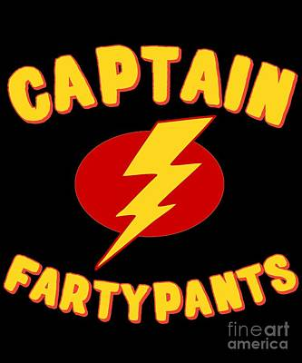 Digital Art - Captain Fartypants Funny Fart by Flippin Sweet Gear