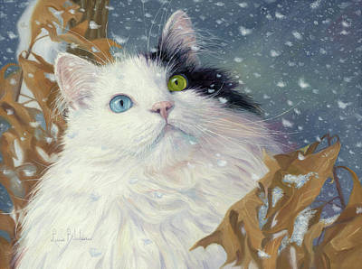 Painting - Captivating Snowflakes by Lucie Bilodeau