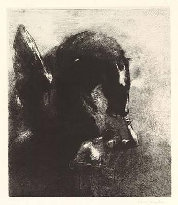 Impressionist Landscapes - Capture of Pegasus, 1888 by Odilon Redon