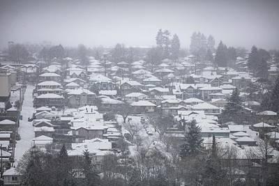 Photograph - Car Stuck In Snow by Juan Contreras