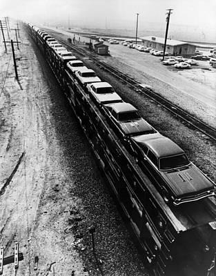 Car Train Art Print by Fox Photos