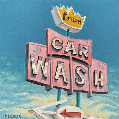 Painting - Car Wash by Nathan Rhoads
