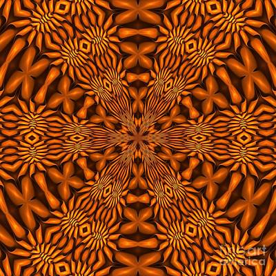Digital Art - Fractal Schnitzel-7 Caramel Hex by Doug Morgan