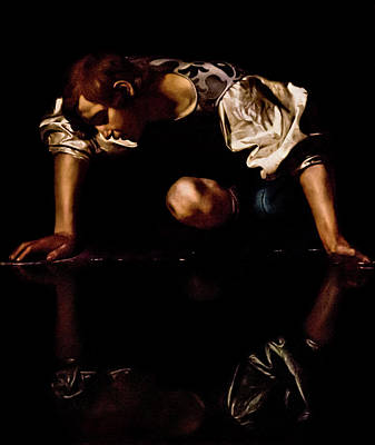 Photograph - Caravaggio - Narcissus by Weston Westmoreland