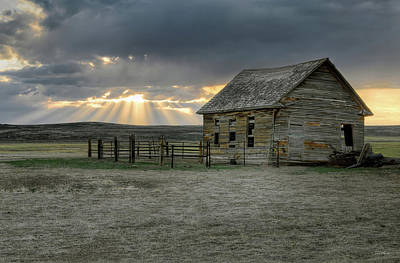 Photograph - Carbon County Cabin by Leland D Howard