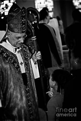 Frank J Casella Royalty-Free and Rights-Managed Images - Cardinal Francis George Listens by Frank J Casella