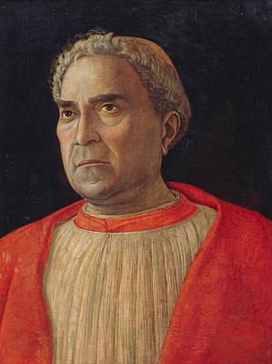 Painting - Cardinal Lodovico Trevisano by Andrea Mantegna