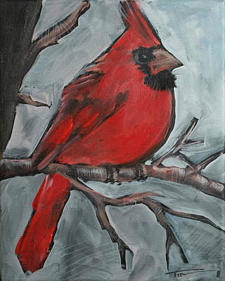 Painting - Cardinal by Tim Nyberg