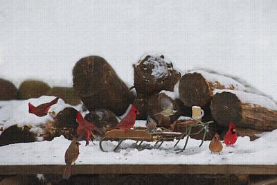 Photograph - Cardinals Everywhere by Dan Friend