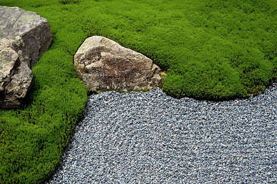 Photograph - Carefully Manicured Moss Highlights A by Photo Japan / Robertharding