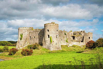 Fantasy Royalty-Free and Rights-Managed Images - Carew castle in Wales by Valery Egorov