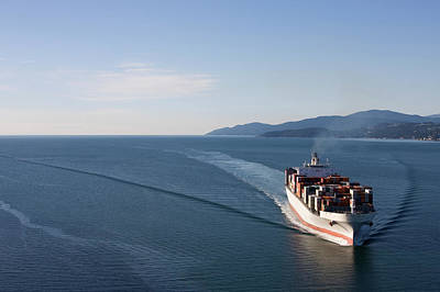 Photograph - Cargo Ship Wide Angle View by Dan prat