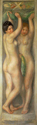 Wine Beer And Alcohol Patents - Cariatides 1909 by Pierre Auguste Renoir