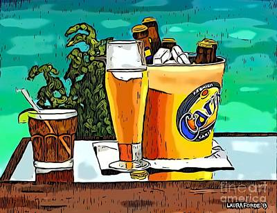 Digital Art - Carib Beer by Laura Forde
