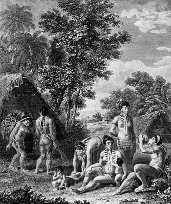 Carib Family Art Print by Hulton Archive