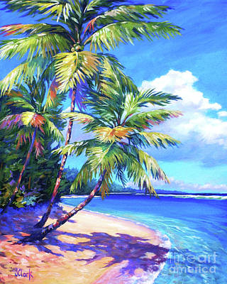 Island Painting - Caribbean Paradise by John Clark
