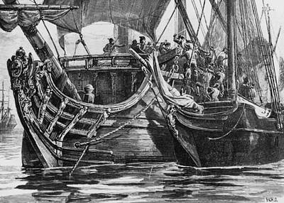 Caribbean Pirate Art Print by Hulton Archive