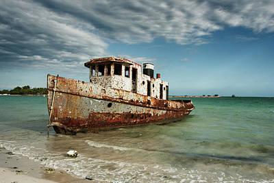 Photograph - Caribbean Shipwreck 21002 by Rick Veldman