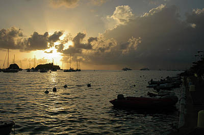 Photograph - Caribbean Sunset by Mark Duehmig