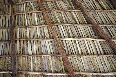 Photograph - Caribbean Thatch Roof by Rick Veldman
