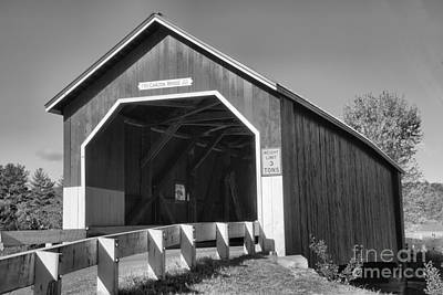 Photograph - Carleton Road East Covered Bridge Black And White by Adam Jewell