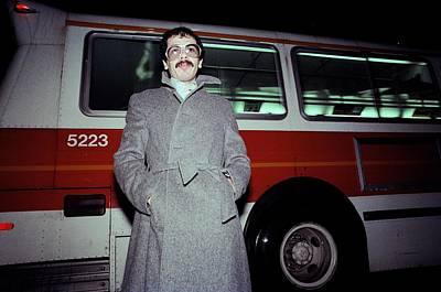 California Mission Photograph - Carlos Santana On The Street by Richard Mccaffrey