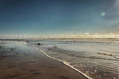 Photograph - Carlsbad Low Tide by Alison Frank