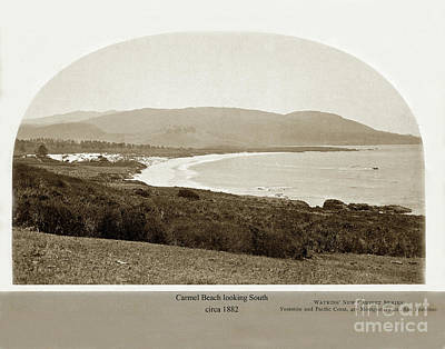 Photograph - Carmel Beach By C. E. Watkins Circa 1882 by California Views Archives Mr Pat Hathaway Archives