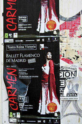 Photograph - Carmen Ballet Flamenco De Madrid Poster by Tatiana Travelways