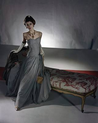 Photograph - Carmen Dell'orefice Wearing Vogue Patterns by Horst P. Horst