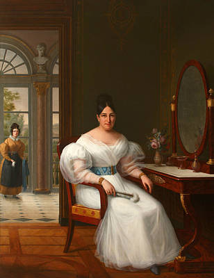 Painting - Carmen Moreno, Marchioness Of The Guadalquivir Marshes by Francisco Lacoma y Fontanet