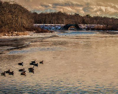 Photograph - Carmens River In Winter by Cathy Kovarik