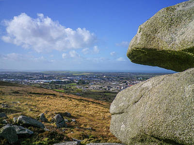 Photograph - Carn Brea Tor View West Over Camborne Cornwall by Richard Brookes