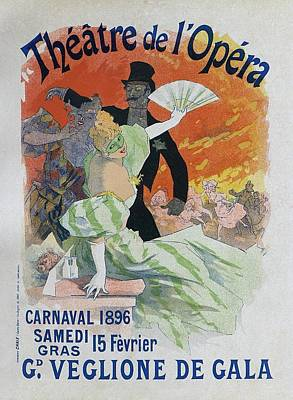 Painting - Carnaval, 1896 French Vintage Opera Poster by Jules Cheret