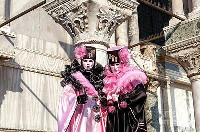 Photograph - Carnival At San Marco Venice by John Rizzuto