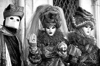 Photograph - Carnival Beckons In Venice by John Rizzuto