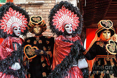 Photograph - Carnival Costumes In Venice by John Rizzuto